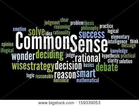 Common Sense, Word Cloud Concept 3