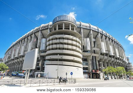 MADRID SPAIN - MAY 4: Santiago Bernabeu stadium on May 4 2013. Is the stadium of Real Madrid Football Club. Real Madrid F.C was stablished in 1902. This stadium was built in 1947.