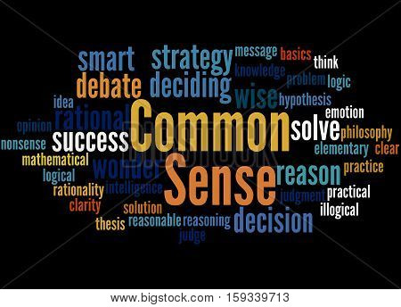 Common Sense, Word Cloud Concept 6