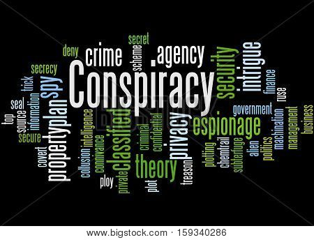 Conspiracy, Word Cloud Concept 5