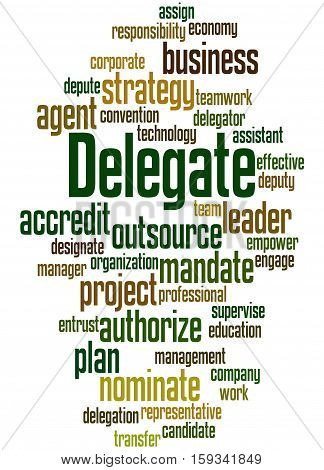 Delegate, Word Cloud Concept 5