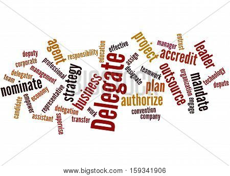 Delegate, Word Cloud Concept 6