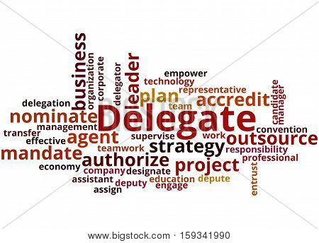 Delegate, Word Cloud Concept 8