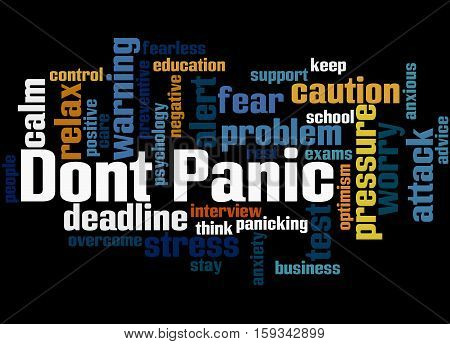 Dont Panic, Word Cloud Concept 3