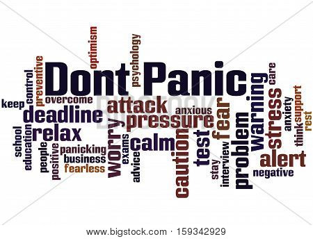 Dont Panic, Word Cloud Concept 4