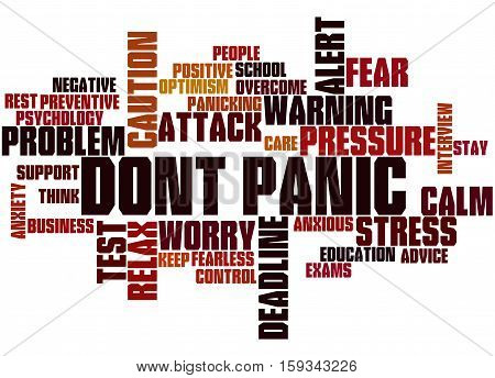 Dont Panic, Word Cloud Concept 9