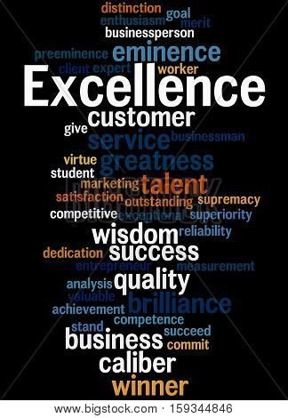 Excellence, Word Cloud Concept 6