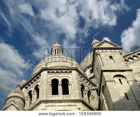 Basilica Of The Sacred Heart Of Paris, Commonly Known As Sacre-cœur Basilica, Paris, France