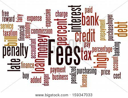 Fees, Word Cloud Concept 4