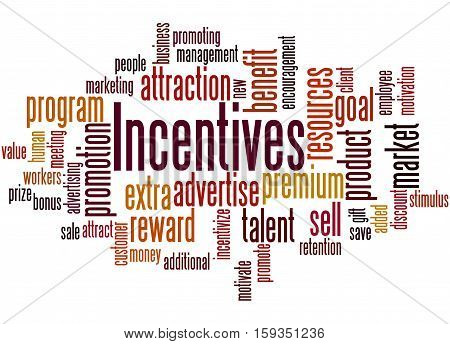 Incentives, Word Cloud Concept