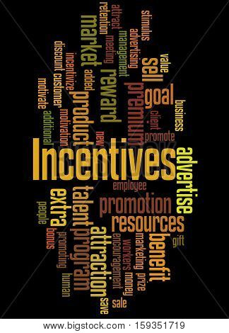 Incentives, Word Cloud Concept 8