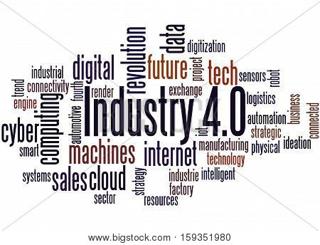 Industry 4.0, Word Cloud Concept 2