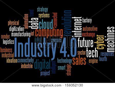 Industry 4.0, Word Cloud Concept 4