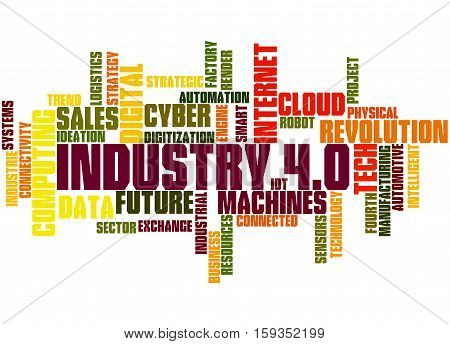Industry 4.0, Word Cloud Concept 5