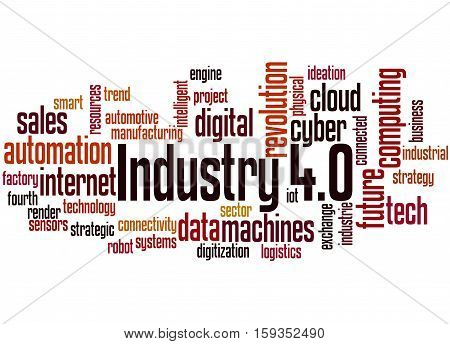 Industry 4.0, Word Cloud Concept 9