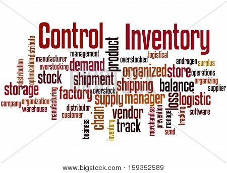 Inventory Control, Word Cloud Concept