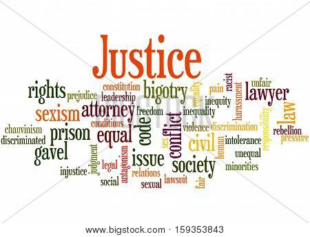 Justice Word Cloud Concept 7