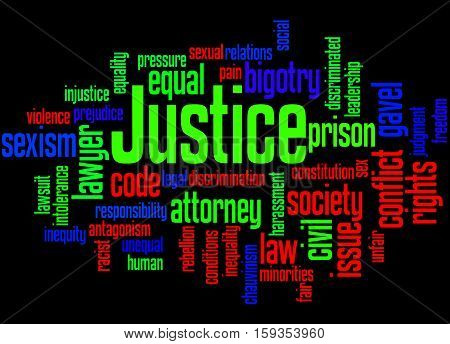 Justice Word Cloud Concept 8