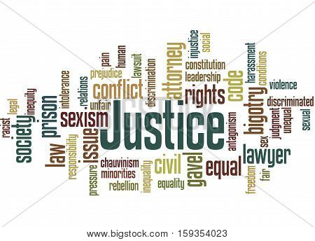 Justice Word Cloud Concept 9