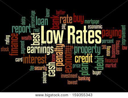 Low Rates, Word Cloud Concept 4