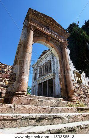 Old Taksiyarhis Church / Cunda (Ali Bey) Island / Ayvalik province in Balikesir / Turkey (before restoration)