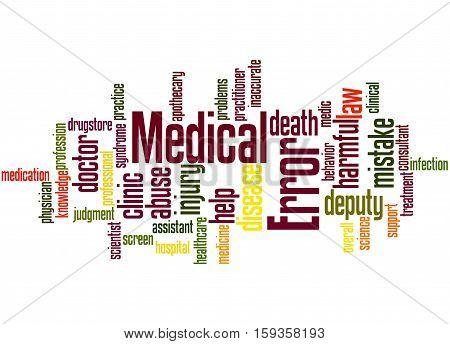 Medical Error, Word Cloud Concept 3