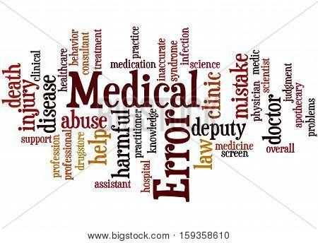 Medical Error, Word Cloud Concept 6