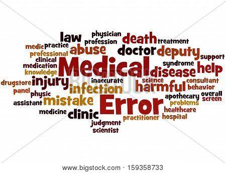 Medical Error, Word Cloud Concept 7
