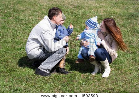 Family At Meadow