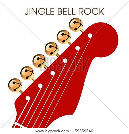 Jingle bell rock musical holiday artwork for print or web