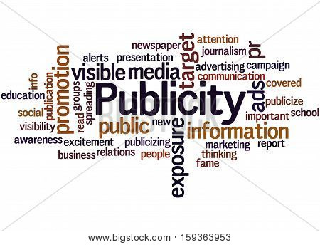 Publicity, Word Cloud Concept 2