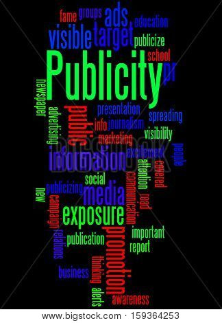 Publicity, Word Cloud Concept 5