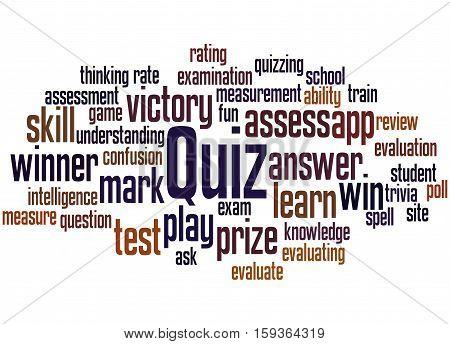 Quiz, Word Cloud Concept