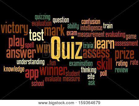 Quiz, Word Cloud Concept 6