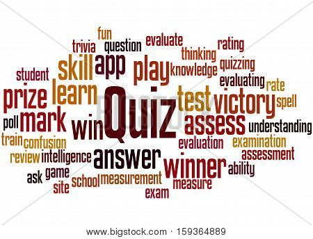 Quiz, Word Cloud Concept 9