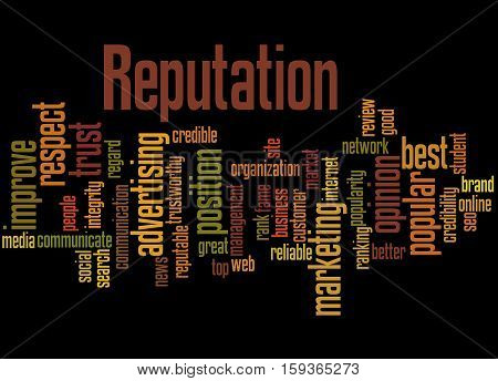 Reputation, Word Cloud Concept 3