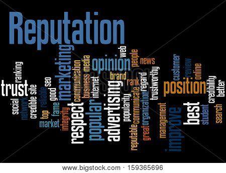 Reputation, Word Cloud Concept 6