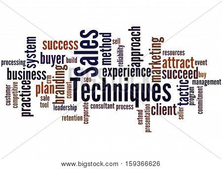 Sales Techniques, Word Cloud Concept 7