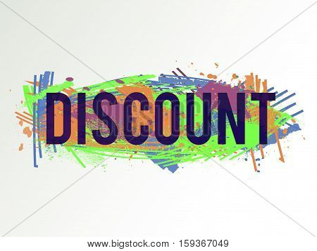 Vector colorful discount background. Abstract texture. Artistic design element. Sale banner