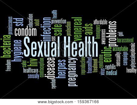 Sexual Health, Word Cloud Concept 4