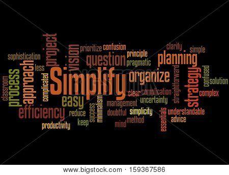 Simplify, Word Cloud Concept