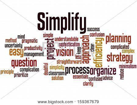 Simplify, Word Cloud Concept 2