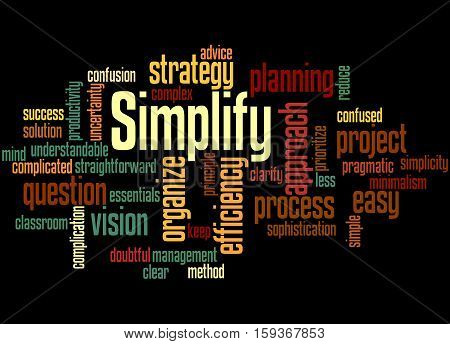 Simplify, Word Cloud Concept 4