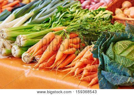 Fennel And Carrots On Parisian Farmer Market