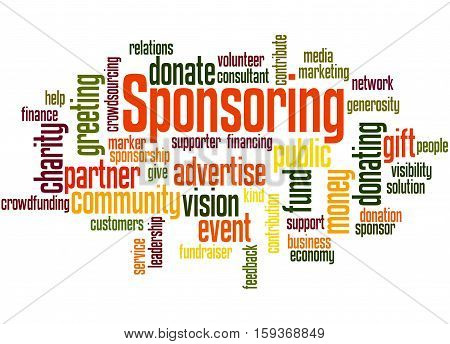 Sponsoring, Word Cloud Concept 2