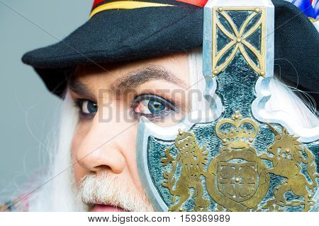 Senior Man Bearded Beefeater