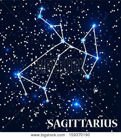 Symbol Sagittarius Zodiac Sign. Vector Illustration. EPS10