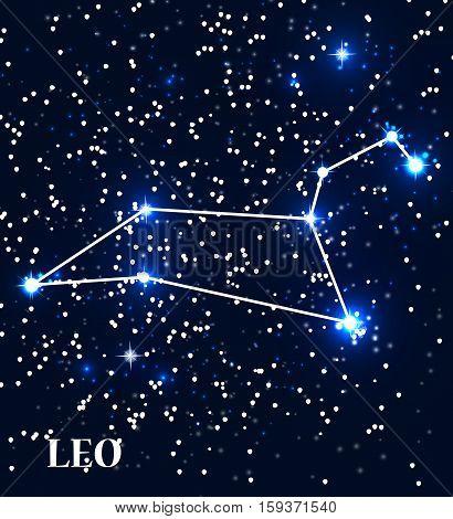 Symbol Leo Zodiac Sign. Vector Illustration. EPS10