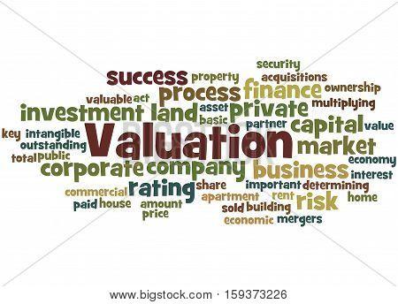 Valuation, Word Cloud Concept 4
