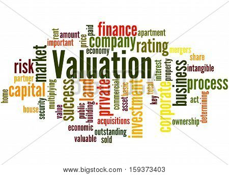 Valuation, Word Cloud Concept 6